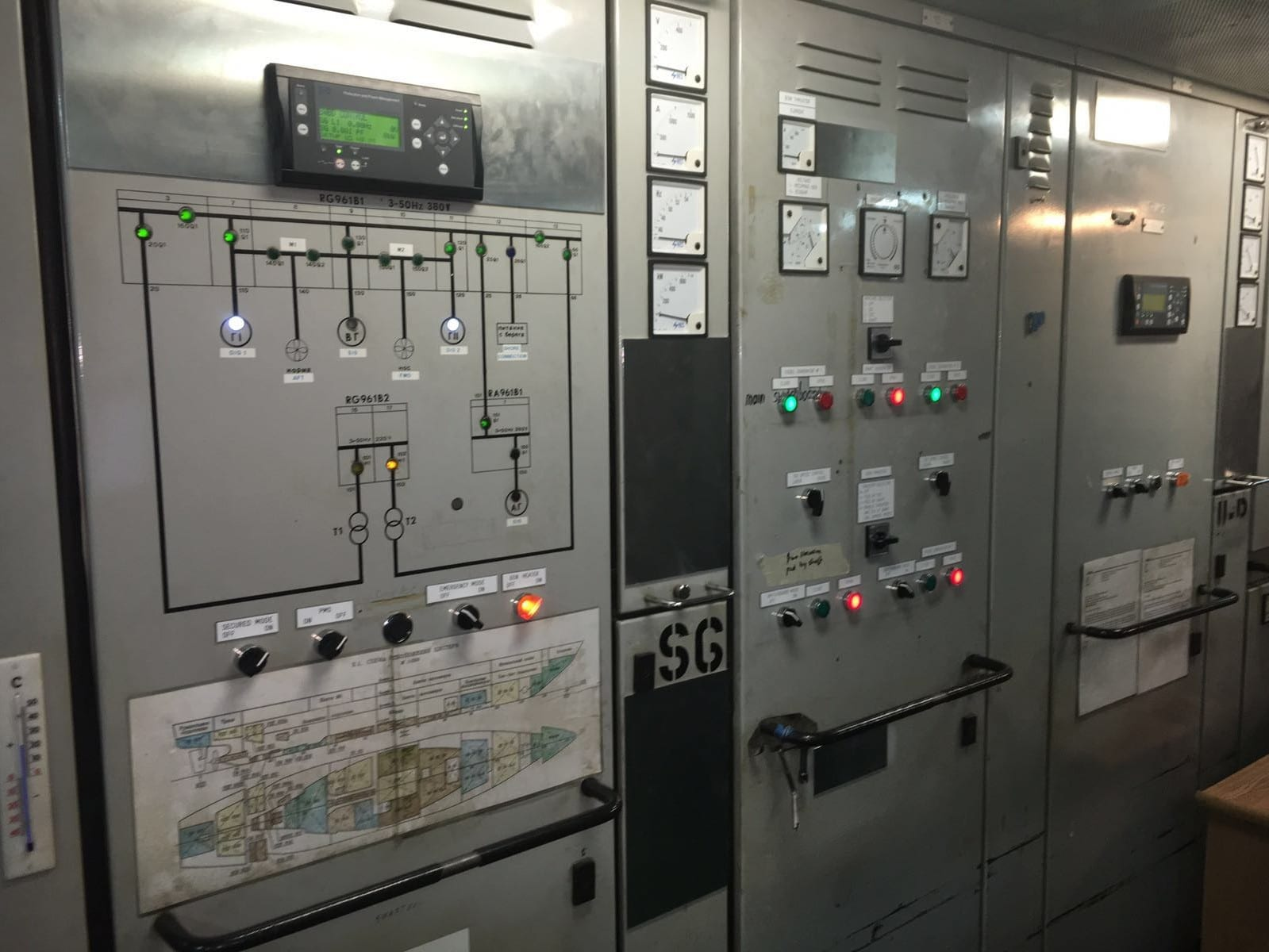 Modifications at main switchboard mv ortelius